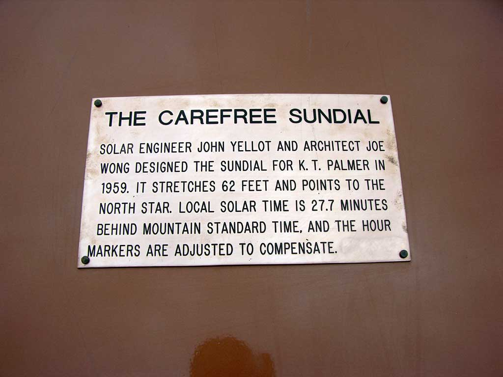 The Carefree Sundial in Carefree, AZ