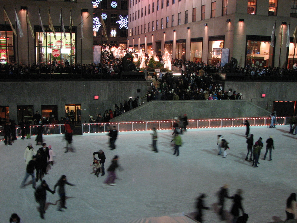 New York The skating rink in Rockefeller Center