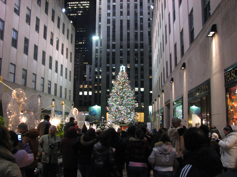New York The Christmas Tree in Rockefeller Center