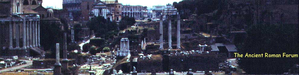 The Ancient Forum in Rome, Italy