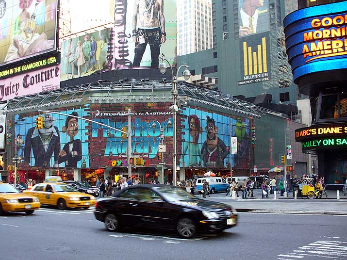 New York Times Square Movie Billboard